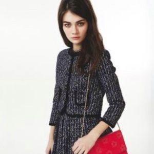 Orla Kiely cropped tweed blazer